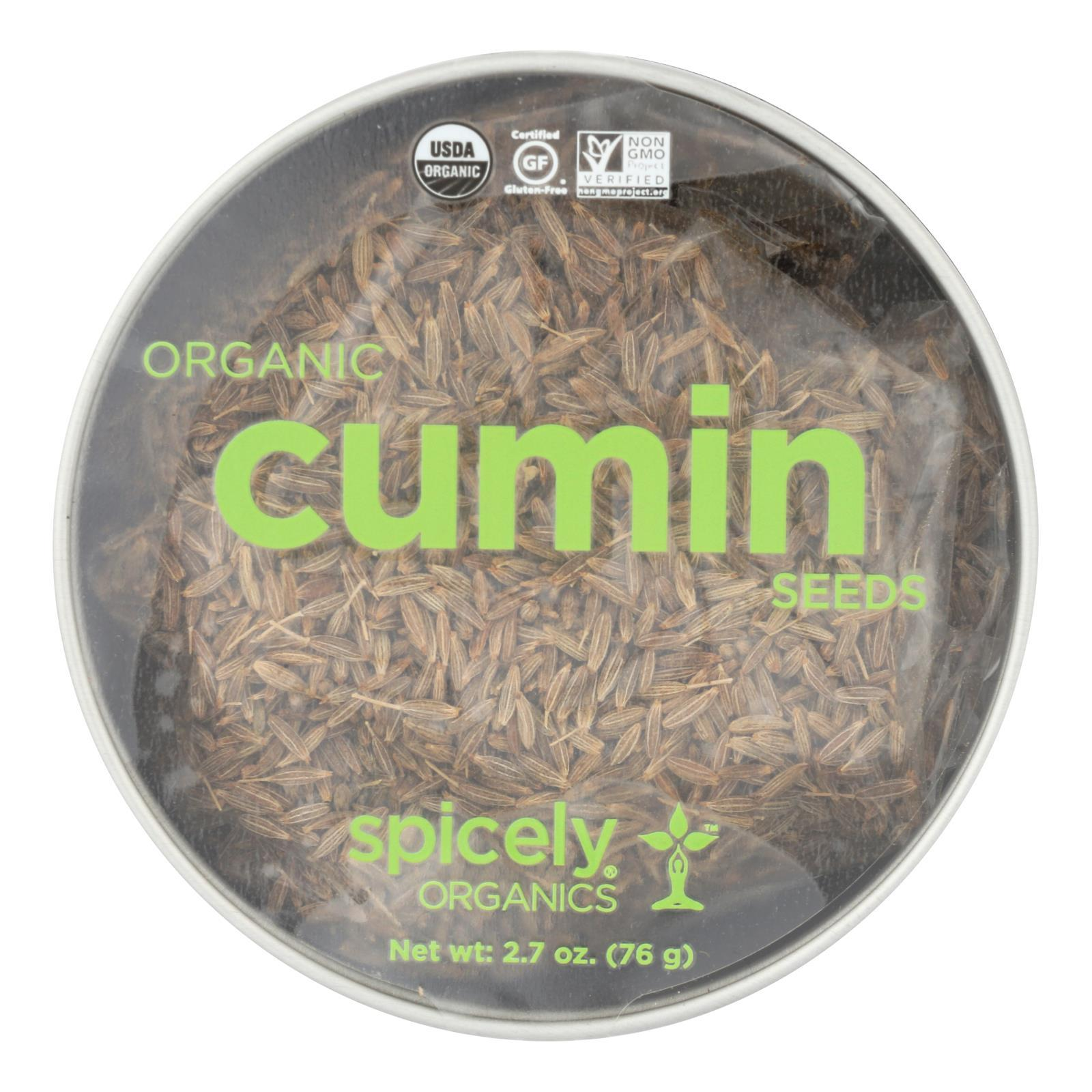 Spicely Organics - Organic Cumin Seed - Whole - Case Of 2 - 2.7 Oz. - BeeGreen