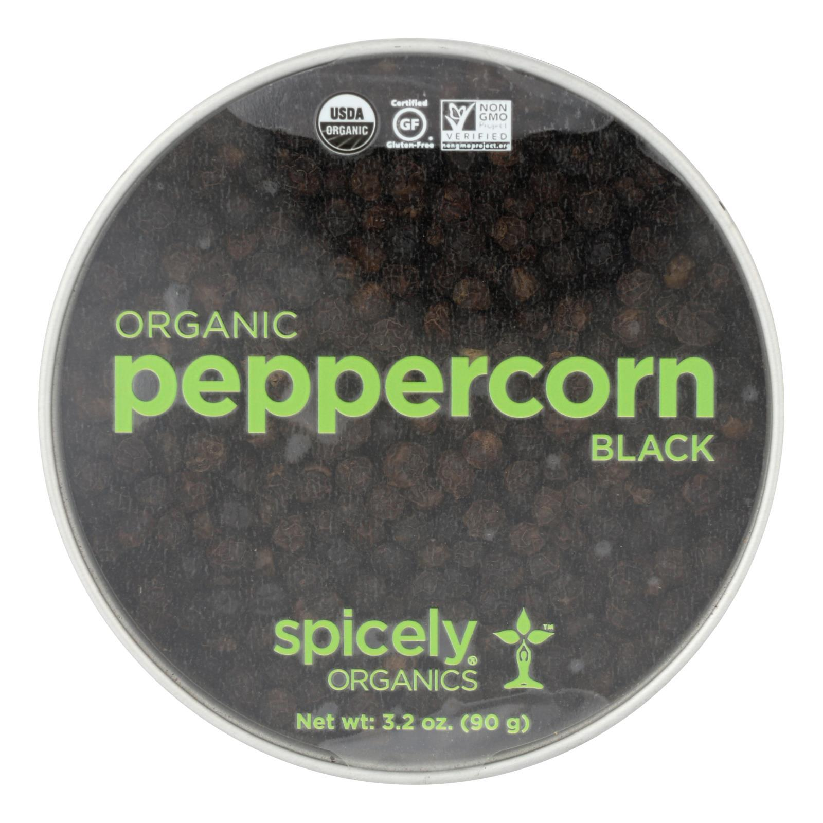Spicely Organics - Organic Peppercorn - Black - Case Of 2 - 3.2 Oz. - BeeGreen
