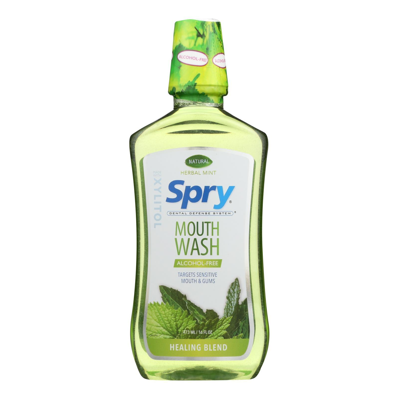 Spry Mouth Wash - Herbal Mint - Af - 16 Fl Oz - BeeGreen