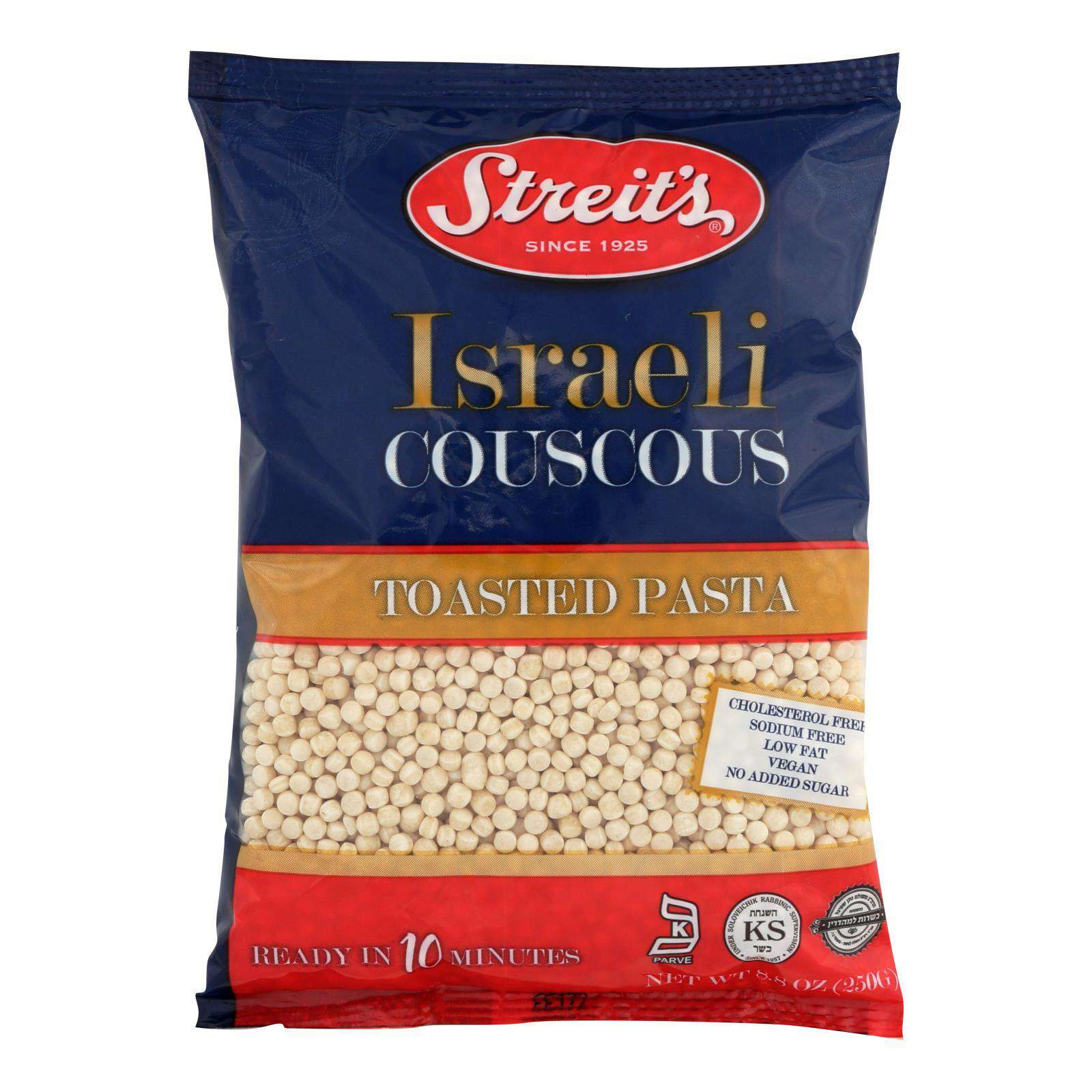 Streit's Israeli Couscous - Case Of 24 - 8.8 Oz. - BeeGreen