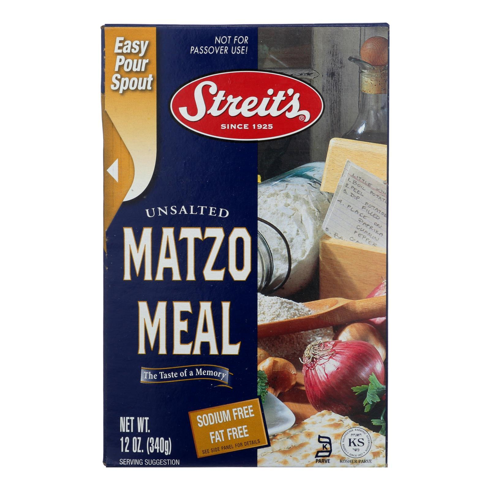 Streit's Matzo - Meal - Case Of 18 - 12 Oz. - BeeGreen