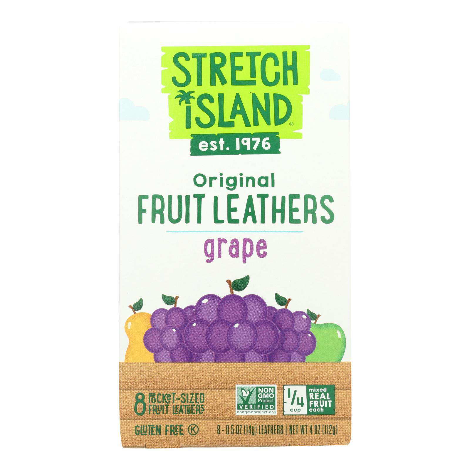 Stretch Island All-natural Fruit Strip - Grape - Case Of 9 - 4 Oz. - BeeGreen