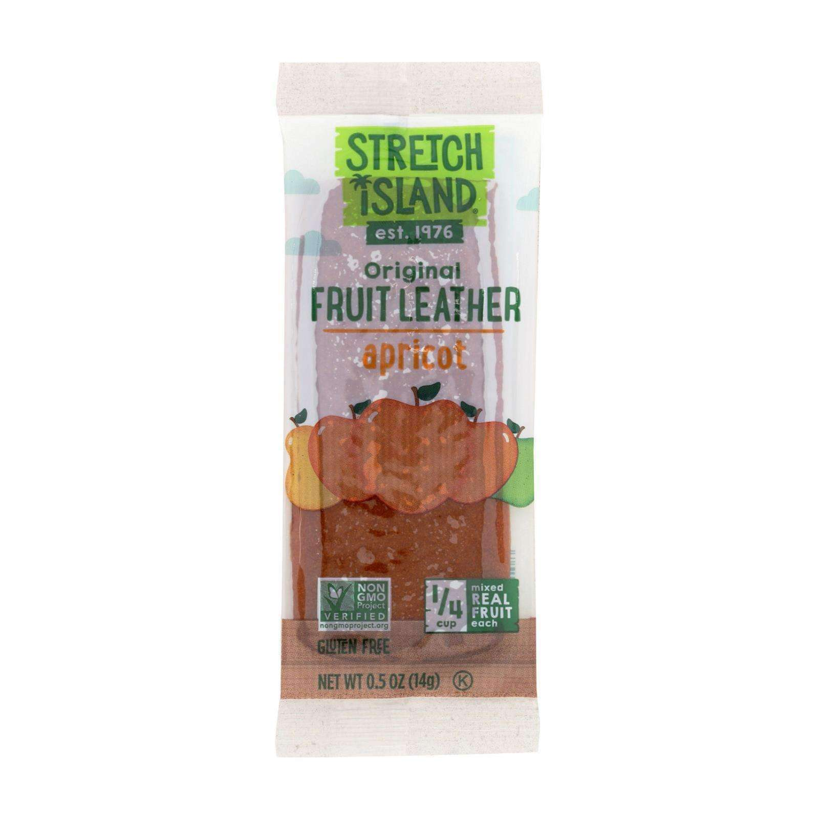 Stretch Island Fruit Leather Strip - Abundant Apricot - .5 Oz - Case Of 30 - BeeGreen