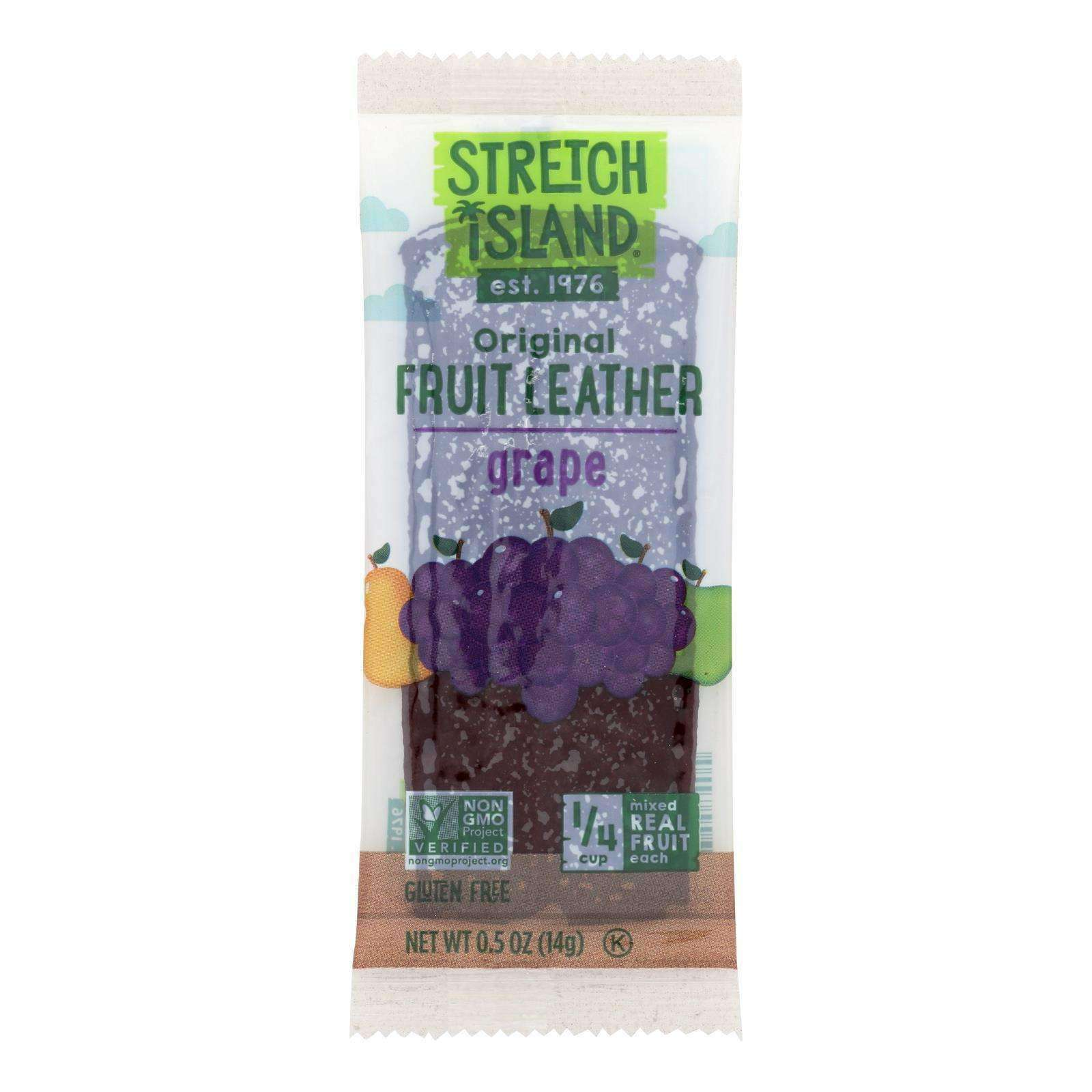 Stretch Island Fruit Leather Strip - Harvest Grape - .5 Oz - Case Of 30 - BeeGreen