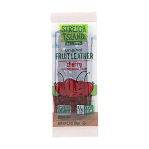 Stretch Island Fruit Leather Strip - Orchard Cherry - .5 Oz - Case Of 30 - BeeGreen