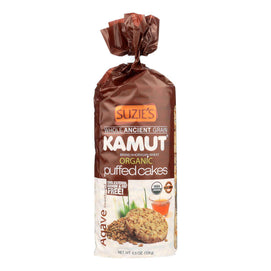 Suzie's Kamut Puffed Cakes - Agave Sweetened - Case Of 12 - 4.5 Oz. - BeeGreen