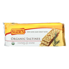 Suzie's Organic Saltines - Rosemary And Sesame - Case Of 12 - 8.8 Oz. - BeeGreen