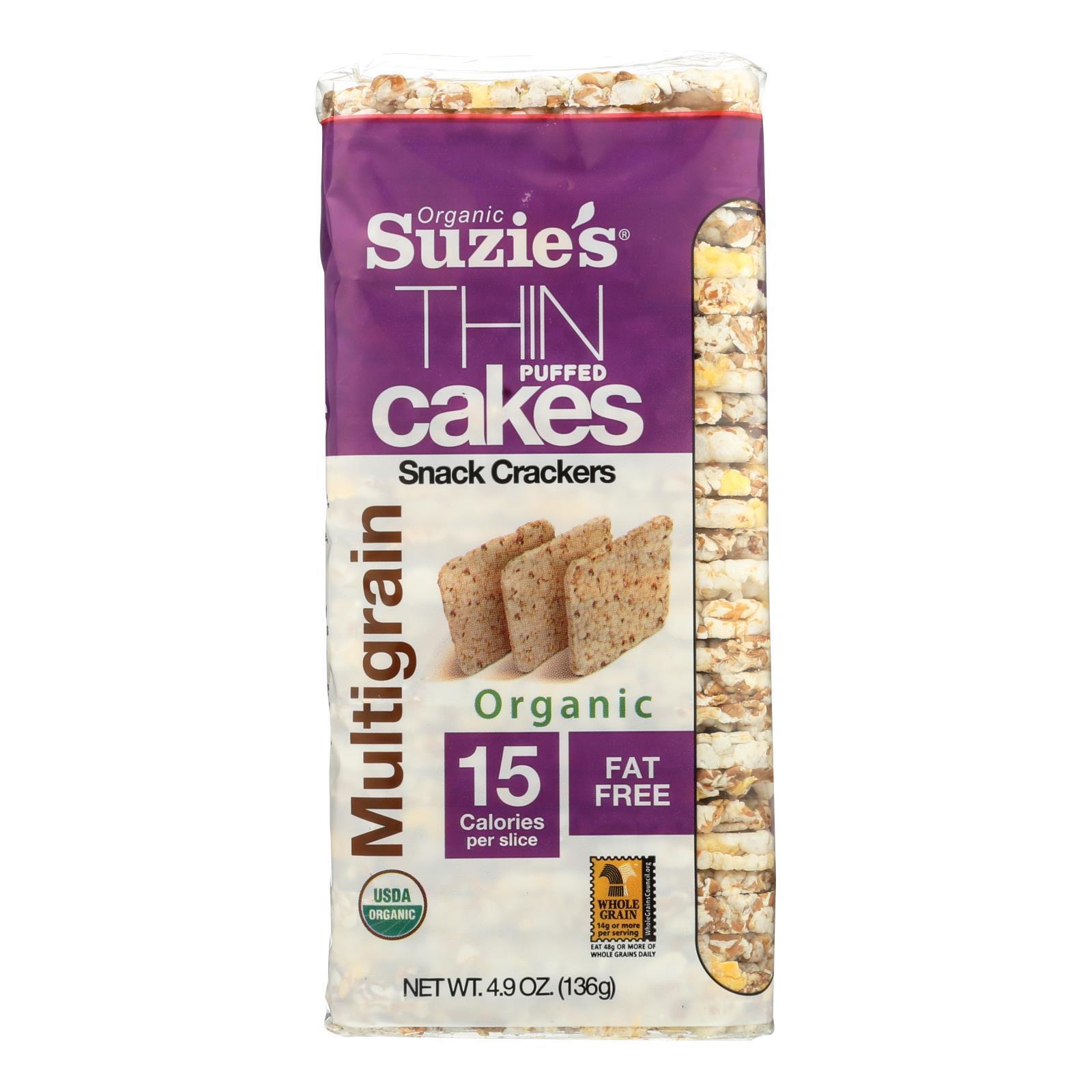 Suzie's Whole Grain Thin Cakes - Multigrain - Case Of 12 - 4.9 Oz. - BeeGreen