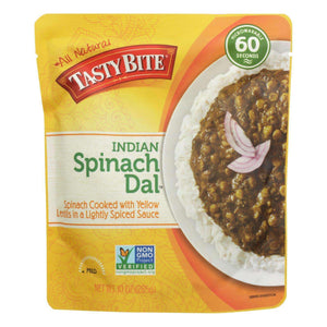 Tasty Bite Entree - Indian Cuisine - Spinach Dal - Indian - 10 Oz - Case Of 6 - BeeGreen