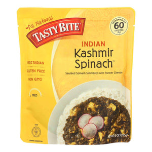 Tasty Bite Entrees - Indian Cuisine - Kashmir Spinach - 10 Oz - Case Of 6 - BeeGreen