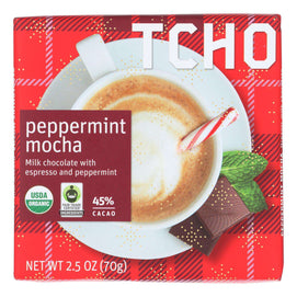 Tcho Chocolate - Bar Milk Chocolate Pprmnt Mo - Case Of 12 - 2.5 Oz - BeeGreen