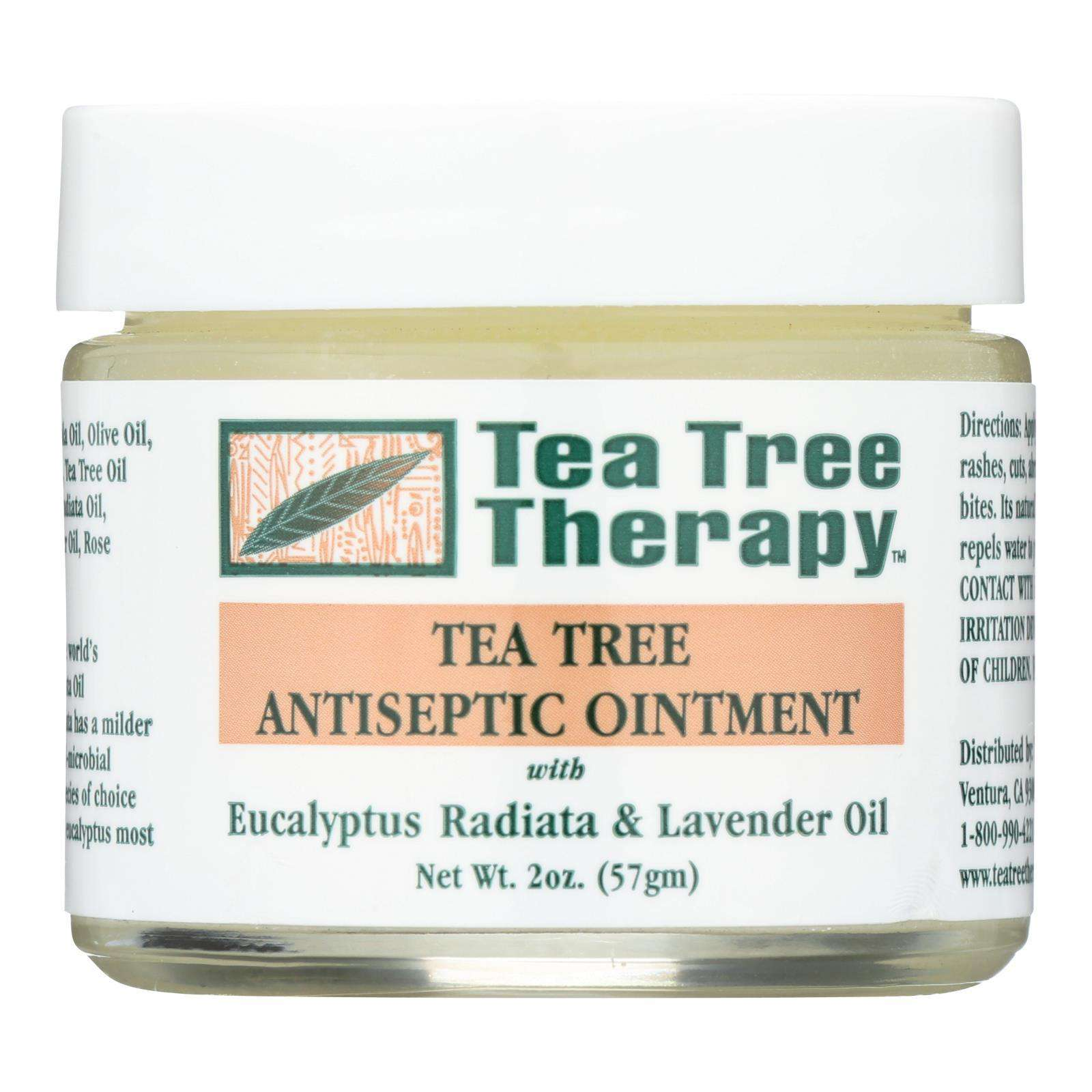 Tea Tree Therapy Antiseptic Ointment Eucalyptus Australiana And Lavender Oil - 2 Oz - BeeGreen