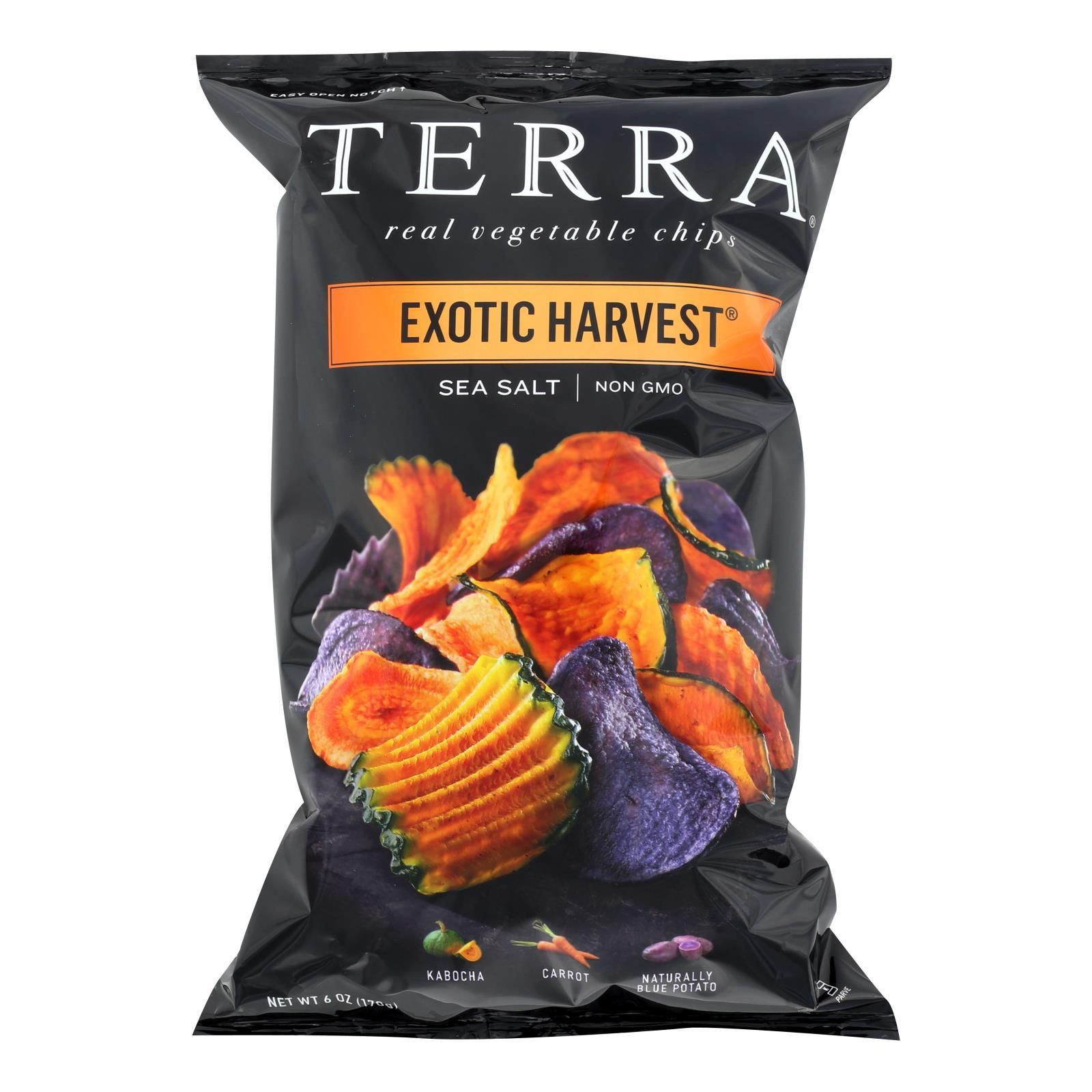 Terra Chips Exotic Vegetable Chips - Exotic Harvest Sea Salt - Case Of 12 - 6 Oz. - BeeGreen