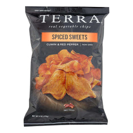Terra Chips Sweet Potato Chips - Spiced Sweets - Case Of 12 - 6 Oz - BeeGreen