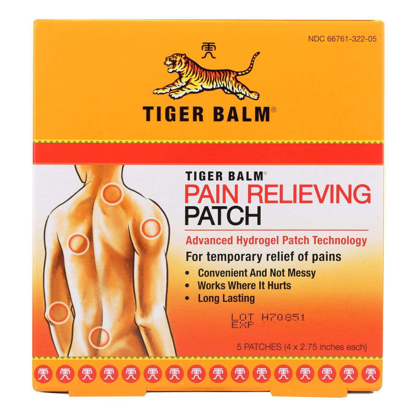 Tiger Balm Patch Display Center - Case Of 6 - 5 Packs - BeeGreen
