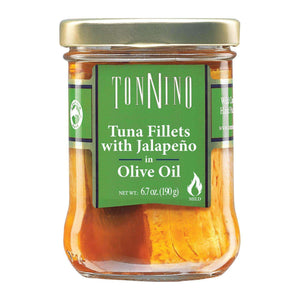 Tonnino Tuna Fillets - Jalapeno Olive Oil - Case Of 6 - 6.7 Oz. - BeeGreen