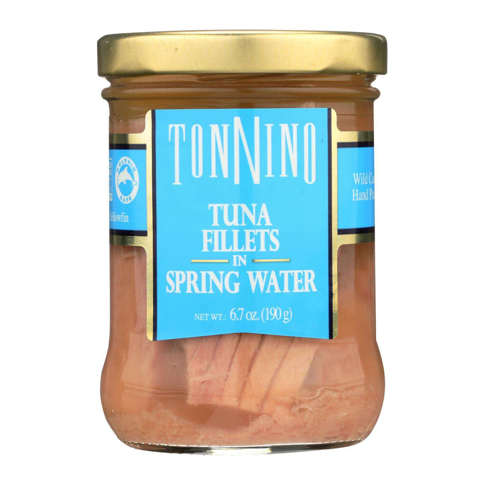 Tonnino Tuna Fillets - Spring Water - Case Of 6 - 6.7 Oz. - BeeGreen