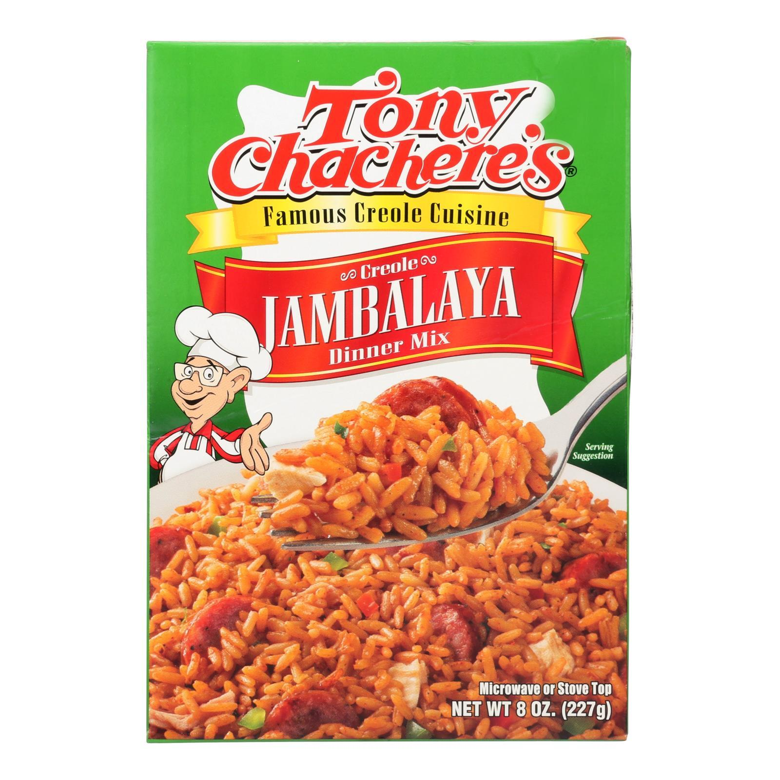 Tony Chachere's Famous Creole Cuisine Creole Jambalaya Dinner Mix - Case Of 12 - 8 Oz - BeeGreen