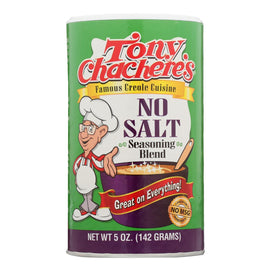 Tony Chachere's Seasoning - Creole - No Salt - Case Of 6 - 5 Oz - BeeGreen