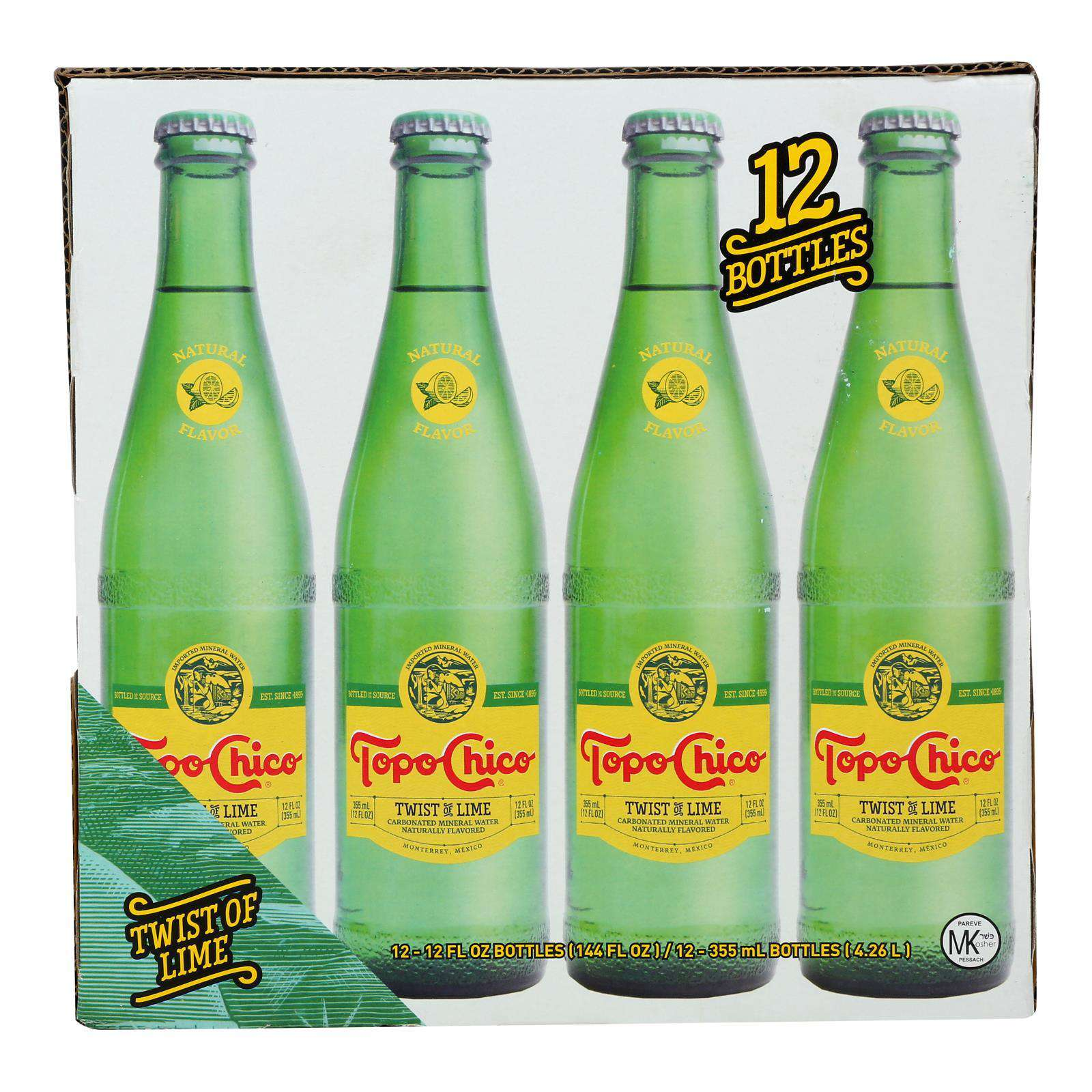 Topo Chico - Water Sparkling Twst Lime - 1 Each - 12-12 Fz - BeeGreen