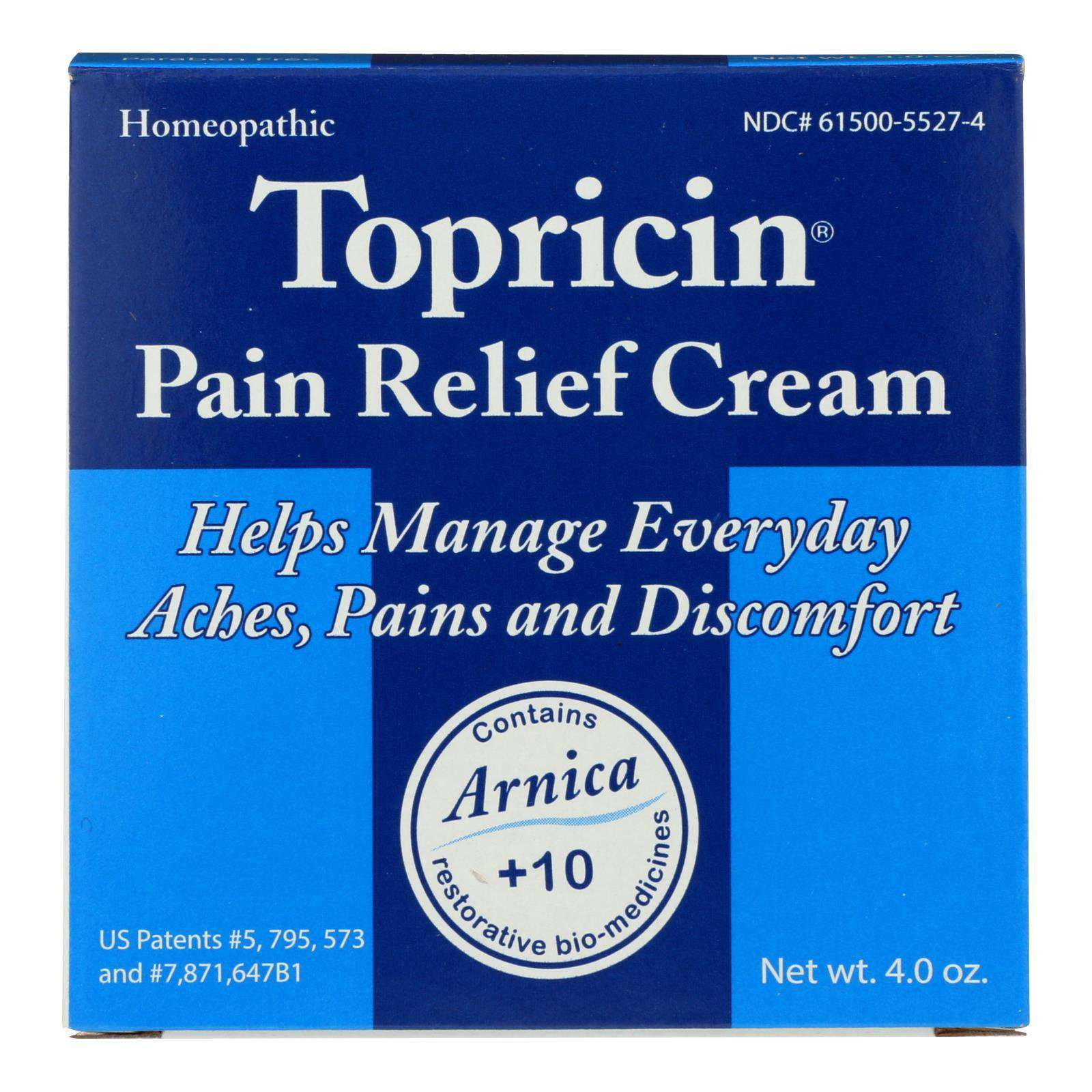 Topricin Topricin Cream Jar - 4 Oz - BeeGreen