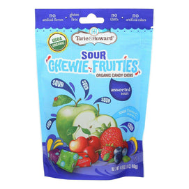 Torie And Howard - Chewy Fruities Organic Candy Chews - Sour Assorted - Case Of 6 - 4 Oz. - BeeGreen