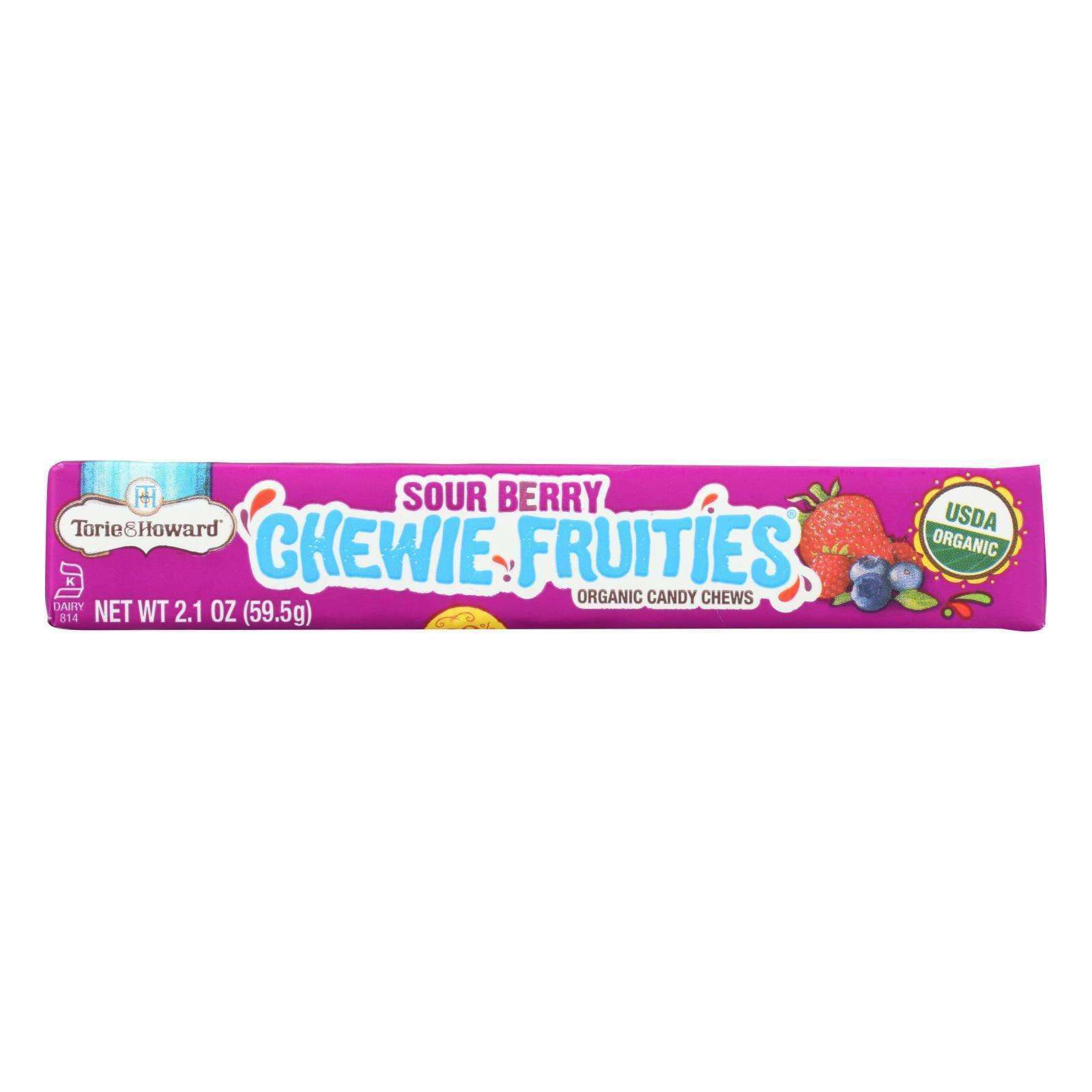 Torie And Howard - Chewy Fruities Organic Candy Chews - Sour Berry - Case Of 18 - 2.1 Oz. - BeeGreen