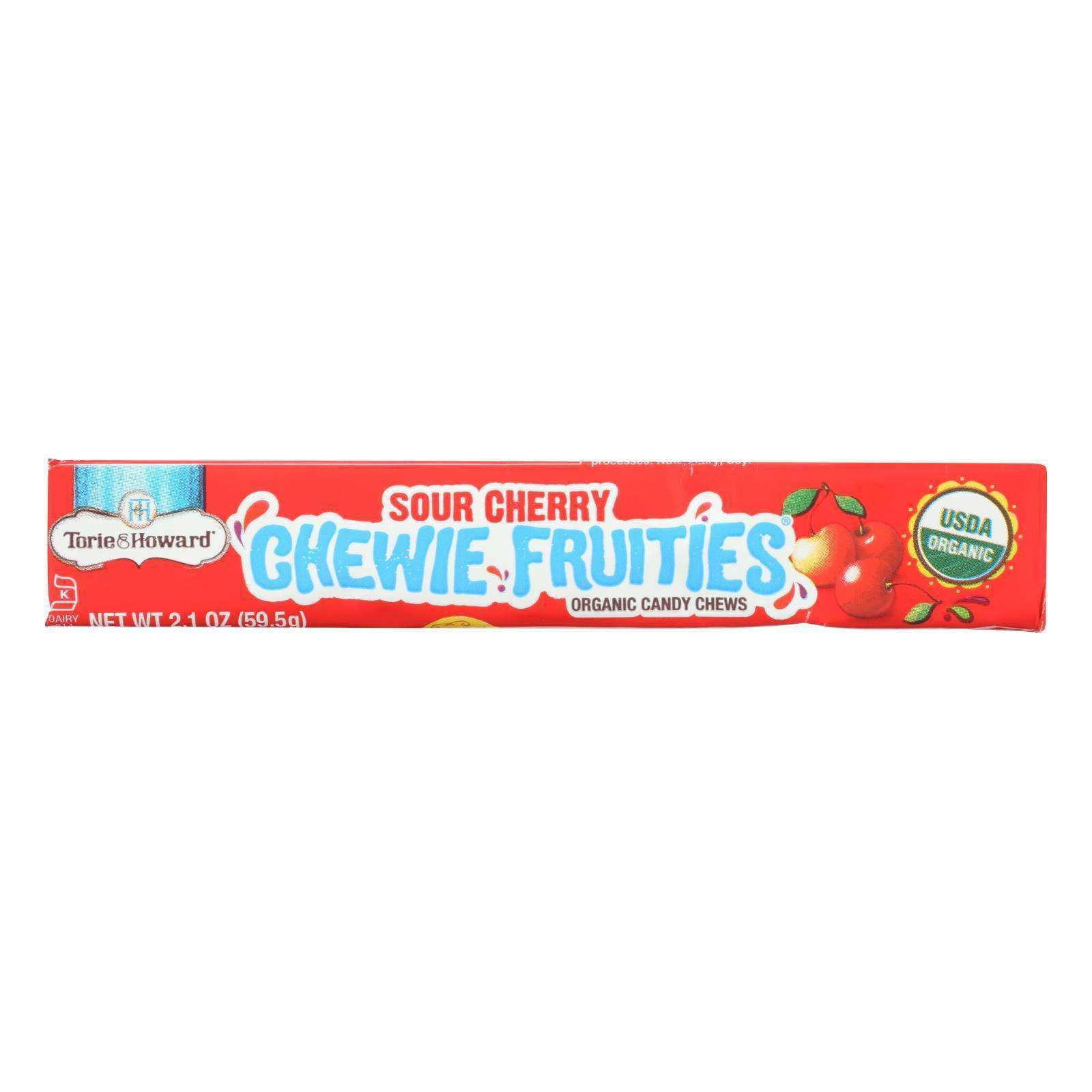 Torie And Howard - Chewy Fruities Organic Candy Chews - Sour Cherry - Case Of 18 - 2.1 Oz. - BeeGreen