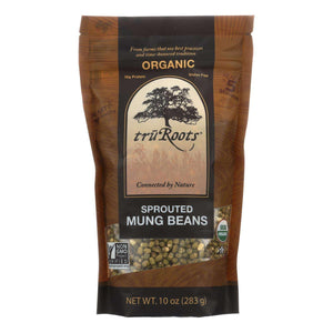 Truroots Organic Mung Beans - Sprouted - Case Of 6 - 10 Oz. - BeeGreen