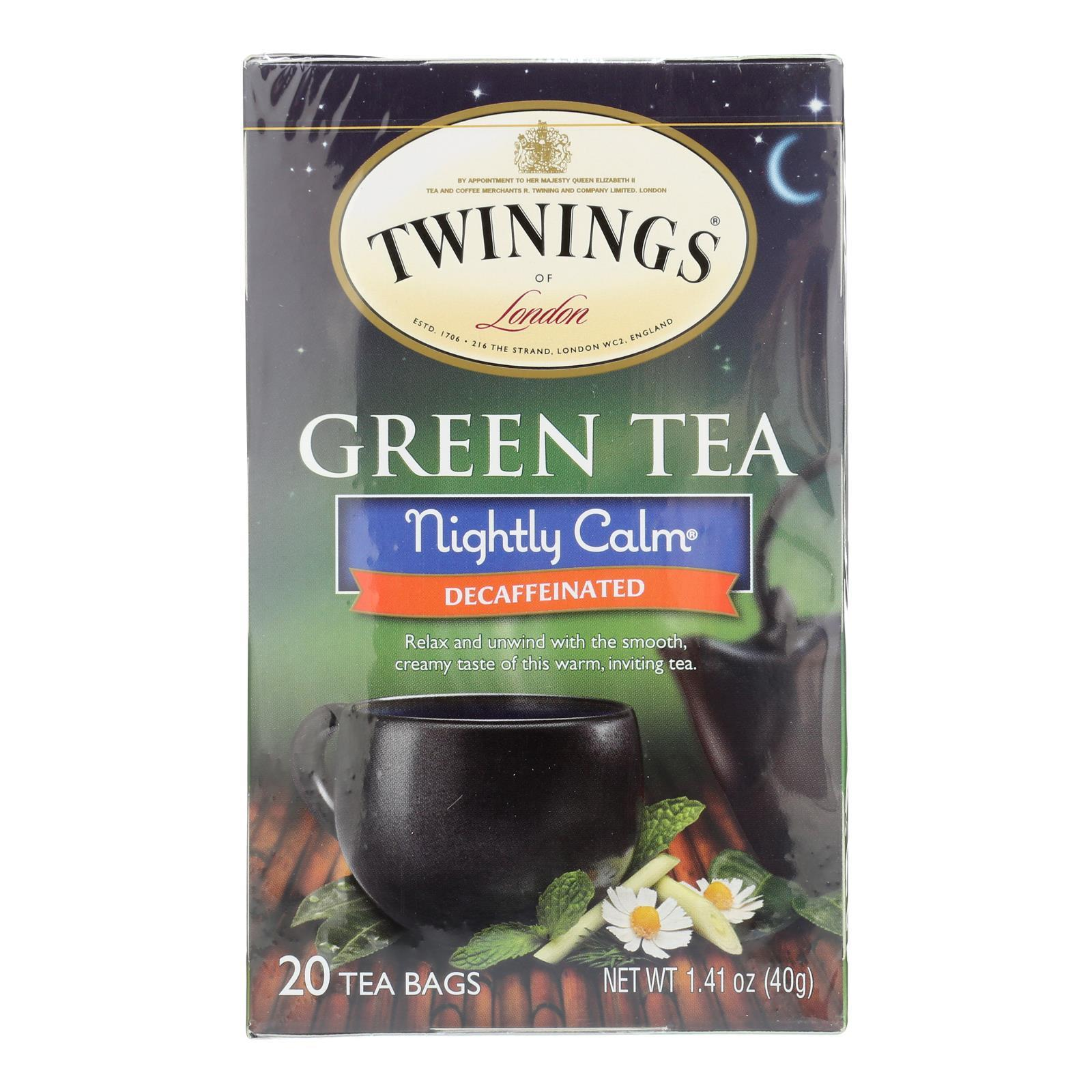 Twining's Tea Green Tea - Nightly Calm - Case Of 6 - 20 Bags - BeeGreen