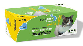 Van Ness Drawstring Cat Pan Liner Value Pack Large - BeeGreen