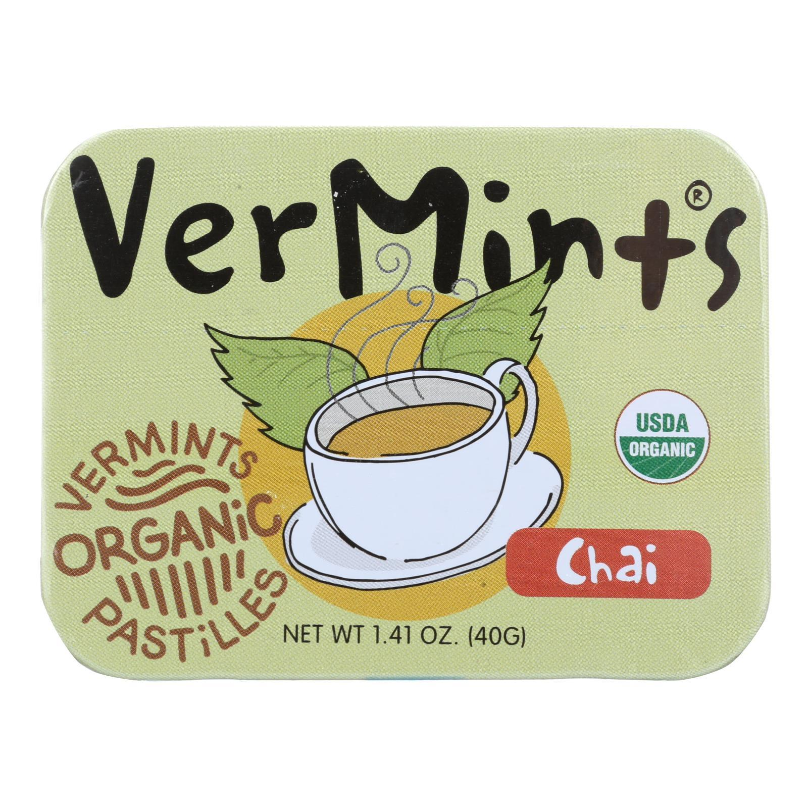 Vermints Pastilles - All Natural - Chai - 1.41 Oz - Case Of 6 - BeeGreen