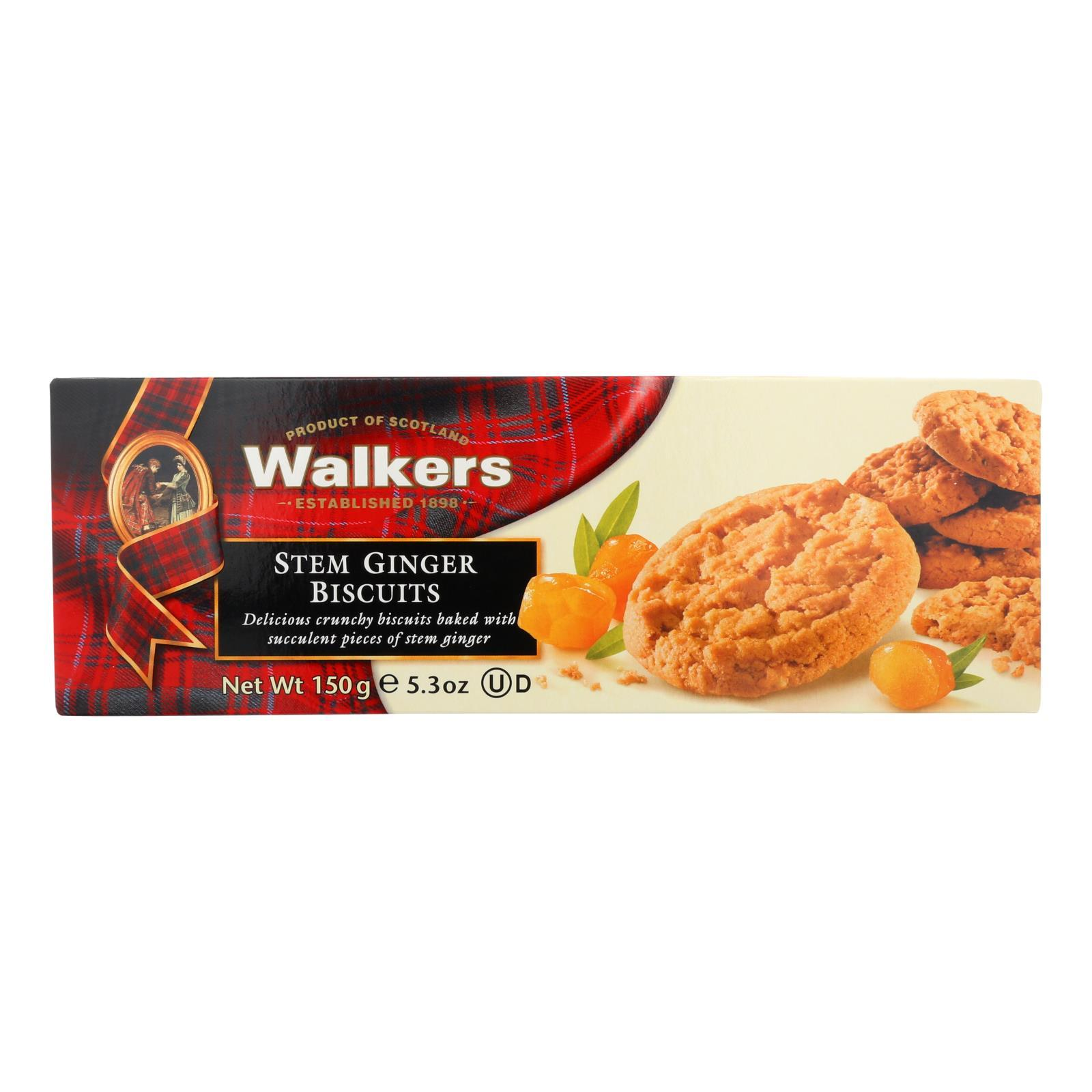 Walkers Shortbread Biscuits - Stem Ginger And Chocolate - Case Of 12 - 5.3 Oz. - BeeGreen