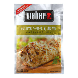 Weber Grill Creations Marinade - White Wine & Herb - Case Of 12 - 1.12 Oz - BeeGreen