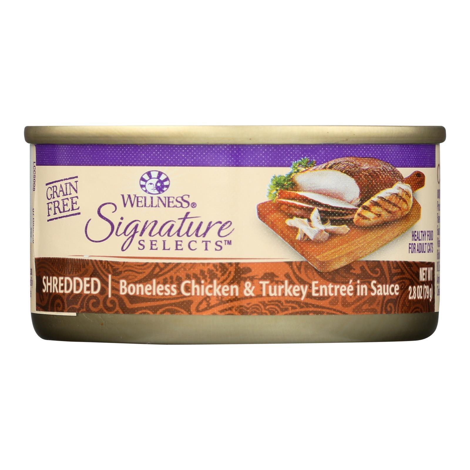 Wellness Pet Products Cat - Can - Turkey - Chicken - Signature Selects - Case Of 12 - 2.8 Oz - BeeGreen