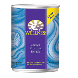 Wellness Pet Products Cat Food - Chicken And Herring - Case Of 12 - 12.5 Oz. - BeeGreen