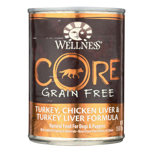 Wellness Pet Products Dog Food - Gain Free - Turkey And Chicken With Liver - Case Of 12 - 12.5 Oz. - BeeGreen