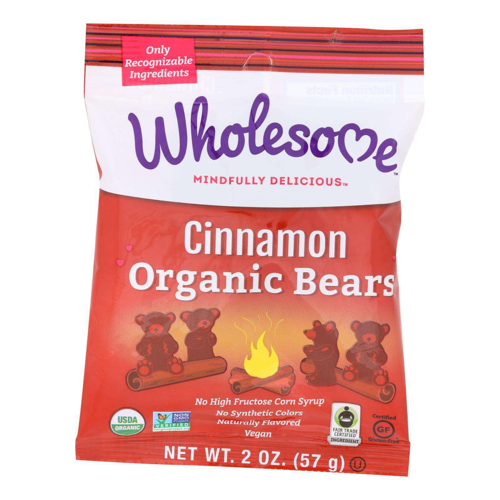 Wholesome! Candy - Organic - Cinnamon Bears - Case Of 12 - 2 Oz - BeeGreen