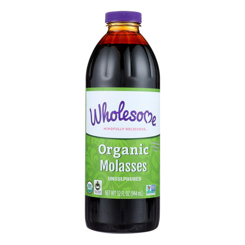 Wholesome Sweeteners Organic Molasses - Liquid Sweetener - Case Of 12 - 32 Oz. - BeeGreen