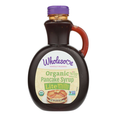 Wholesome Sweeteners Organic Syrup - Pancake Lite - Case Of 6 - 20 Fl Oz - BeeGreen