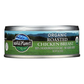 Wild Planet Organic Canned Chicken Breast - Roasted - Case Of 12 - 5 Oz - BeeGreen