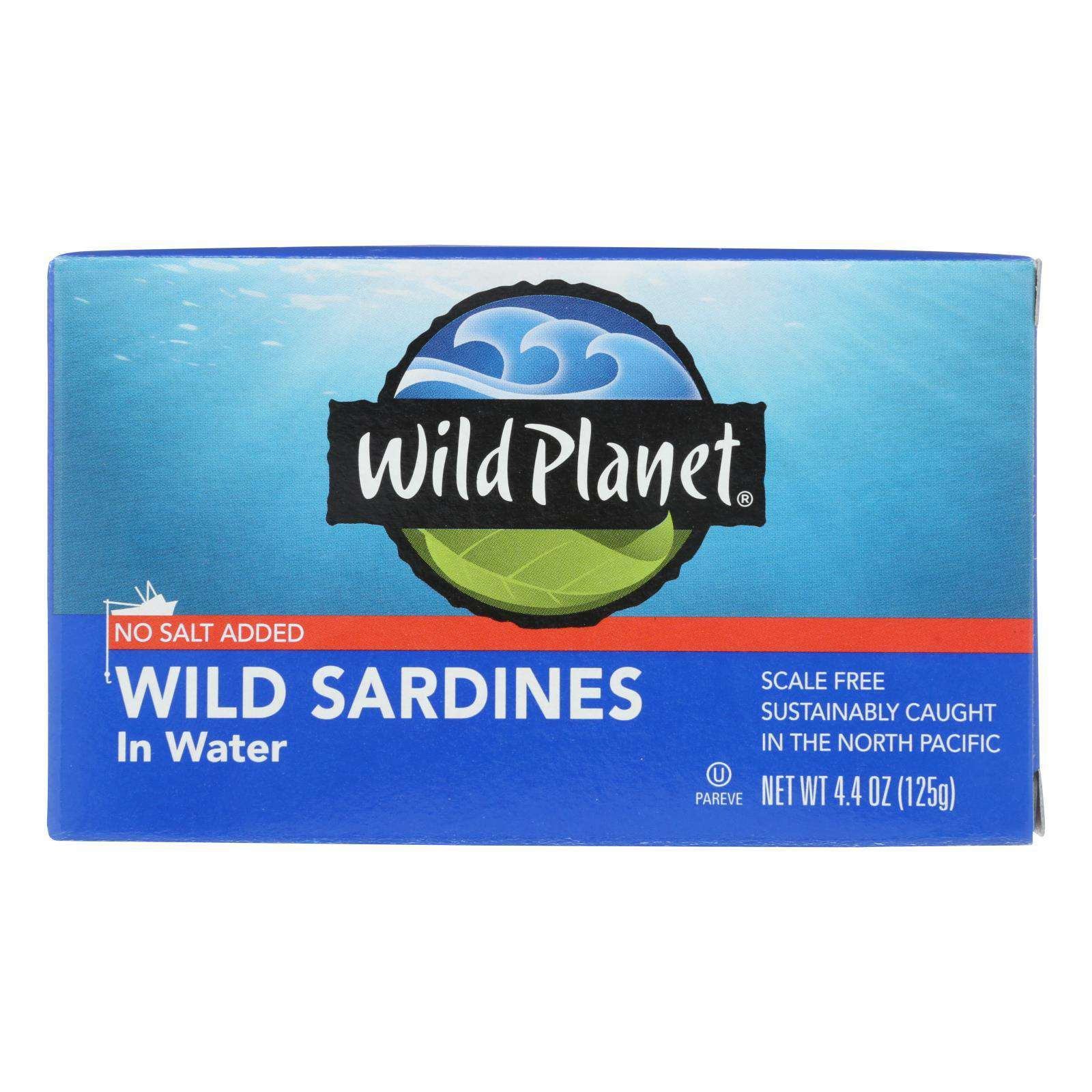 Wild Planet Sardines In Water - Case Of 12 - 4.375 Oz. - BeeGreen