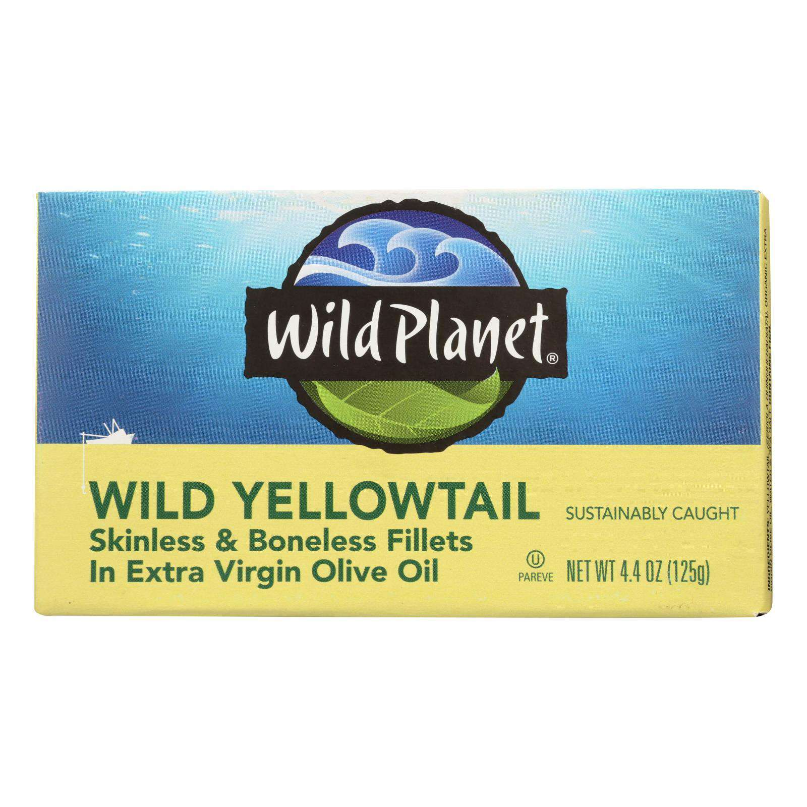 Wild Planet Wild Yellow Tail Fillets In Extra Virgin Olive Oil - Case Of 12 - 4.375 Oz. - BeeGreen