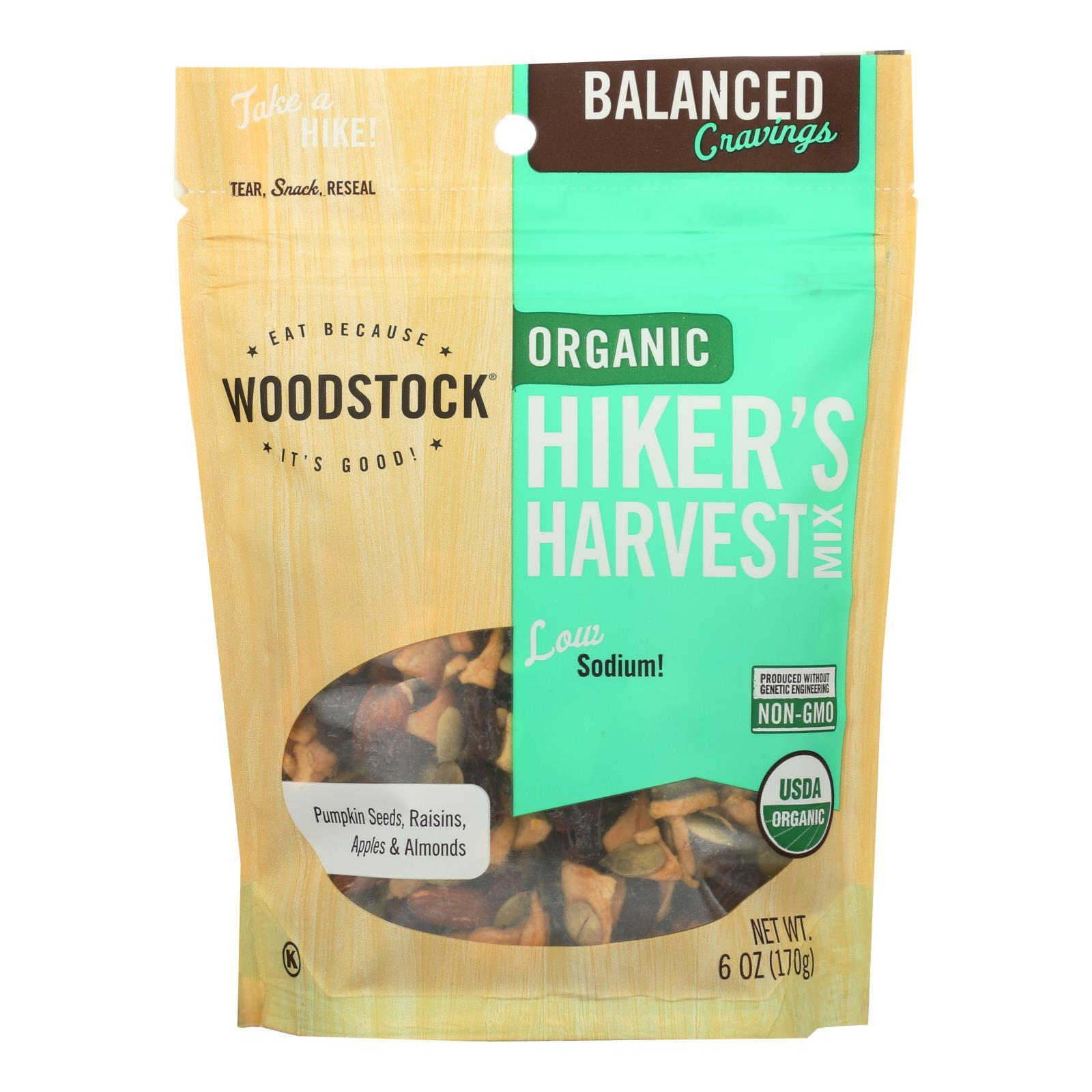Woodstock Organic Hiker's Harvest Snack Mix - Case Of 8 - 6 Oz - BeeGreen