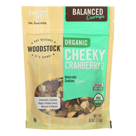 Woodstock - Organic Trail Mix - Cheeky Cranberry - Case Of 8 - 6 Oz. - BeeGreen