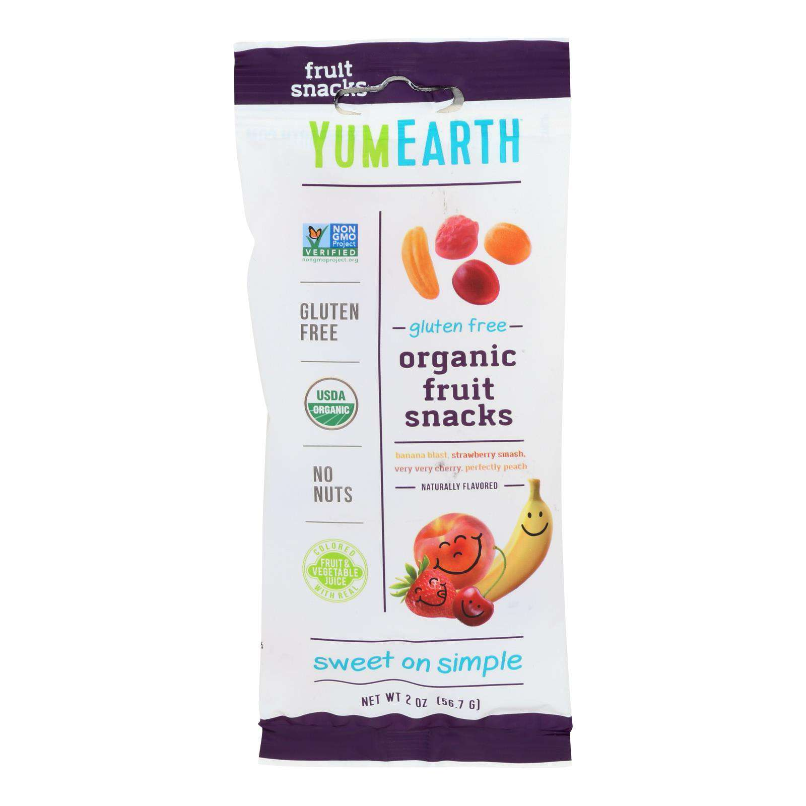 Yumearth Organics - Organic Fruit Snack - 4 Flavors - Case Of 12 - 2 Oz. - BeeGreen