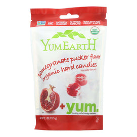 Yummy Earth Organic Candy Drops Pomegranate Pucker - 3.3 Oz - Case Of 6 - BeeGreen