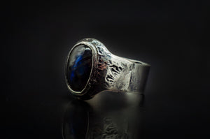 Authentic 925 Silver and Godly Blue Labradorite Ring