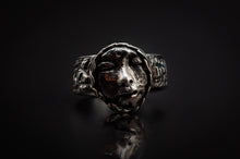 Load image into Gallery viewer, 99.9% Pure Silver, Hand Engraves Band, And Face Ring