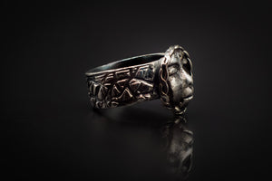 99.9% Pure Silver, Hand Engraves Band, And Face Ring